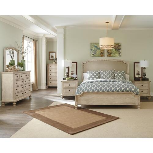 Demarlos Queen Upholstered Panel Bed