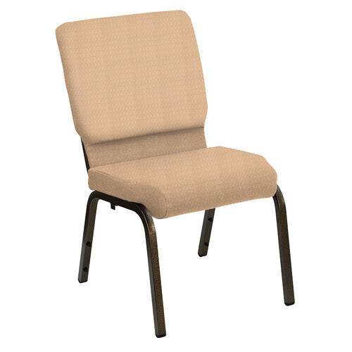 Flash Furniture - HERCULES Series 18.5''W Church Chair in Bedford Butternut Fabric - Gold Vein Frame