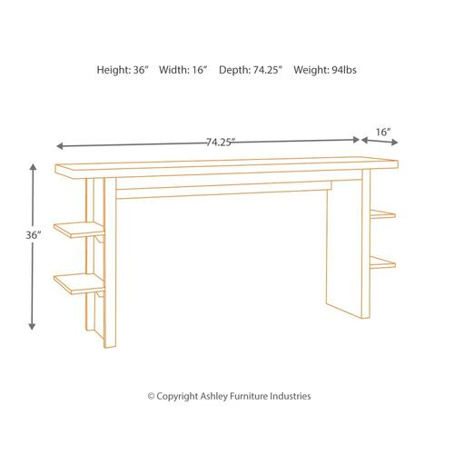 Lamoille Long Counter Table