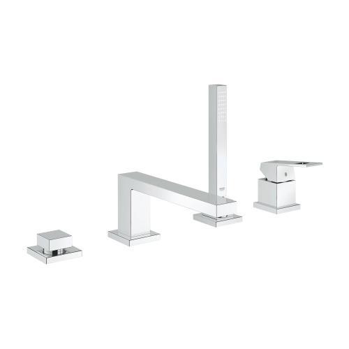 Eurocube 4-hole Single-handle Deck Mount Roman Tub Faucet With 1.75 Gpm Hand Shower