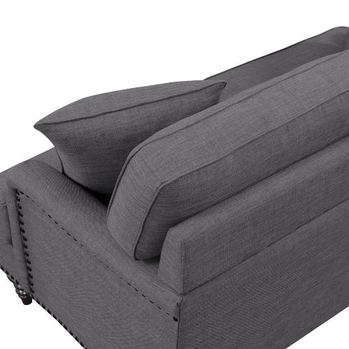 Elements - Abby Loveseat W/Pillows in Heirloom Charcoal