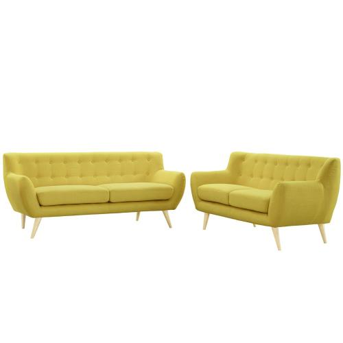 Remark 2 Piece Living Room Set in Sunny