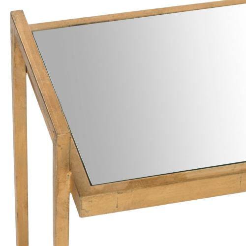 Noland Mirror Top Gold Accent Table - Gold