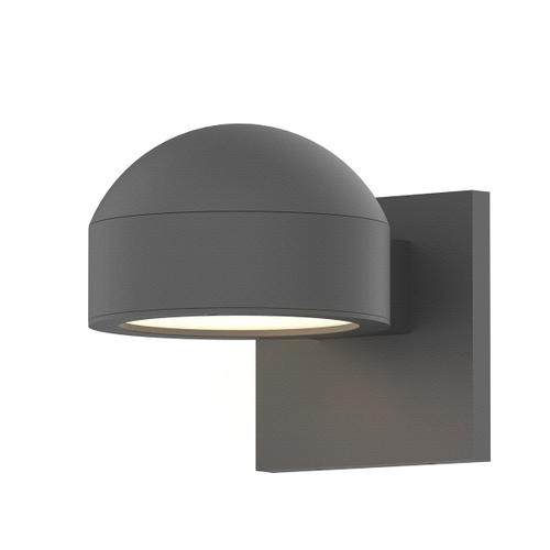 Sonneman - A Way of Light - REALS® Downlight LED Sconce [Color/Finish=Textured Gray, Lens Type=Dome Cap and Plate Lens]