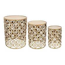 S/3 Gold/mirror Accent Tables