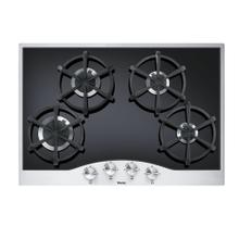 "Stainless Steel/Black 30"" Gas Cooktop - DGCU (30"" wide, four burners)"