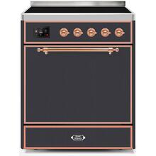Majestic II 30 Inch Electric Freestanding Range in Matte Graphite with Copper Trim
