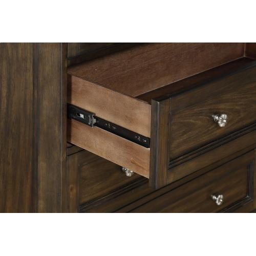 Emerald Home B553-01 Knoll Hill Dresser Walnut Brown B553-01