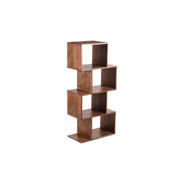 See Details - Portola Walnut 4 Cube Bookcase, 2001-1222WW