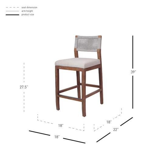 Product Image - Pierre Rope Counter Stool, Gray