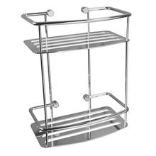 Classic D-shape Two Tier Shower Shelf