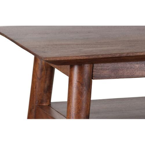 Portola Walnut Console Table with Shelf, 2005-002WW