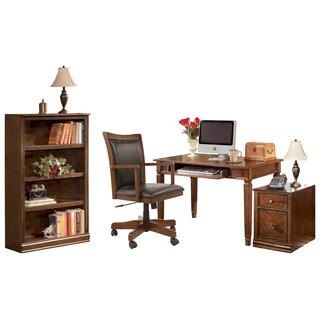 Home Office Desk With Chair and Storage