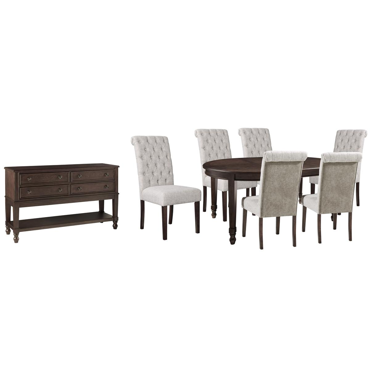 Dining Table and 6 Chairs With Storage