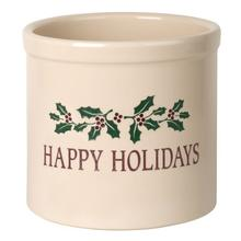 See Details - Happy Holidays Holly 2 Gallon Stoneware Crock