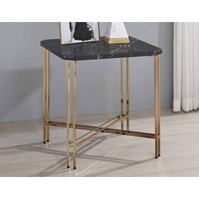 Daxton Faux-Marble Top End Table