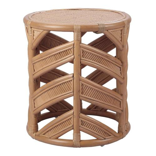 Zurich Rattan End Table, Canary Brown