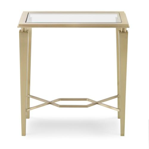 Intersection Accent Table - Brass