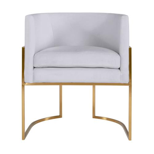 Giselle Grey Velvet Dining Chair with Gold Leg by Inspire Me! Home Decor