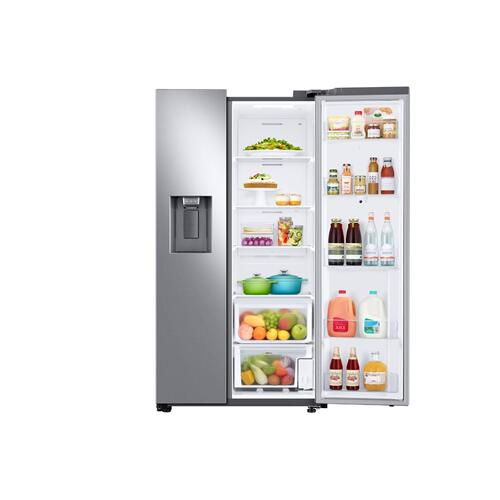 26.7 cu. ft. Large Capacity Side-by-Side Refrigerator with Touch Screen Family Hub™ in Stainless Steel