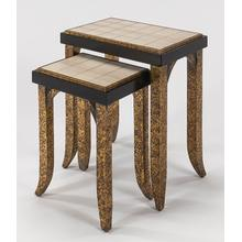"""View Product - Nest Table with Glass - Set of 2 22x14.5x26"""" & 16x12x22.5"""""""