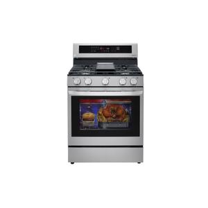 5.8 cu ft. Smart Wi-Fi Enabled True Convection InstaView™ Gas Range with Air Fry Product Image