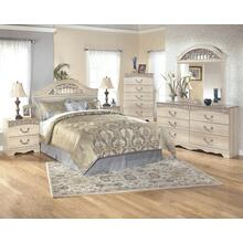Queen/full Panel Headboard With Mirrored Dresser