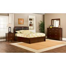 Metro 4pc Cherry Bedroom with Martin Queen Storage Bed