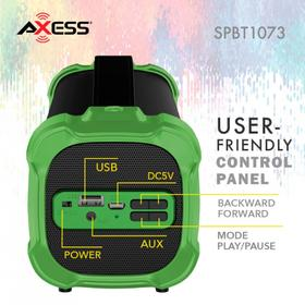 Portable Indoor/Outdoor Bluetooth® Speaker W/ USB Built-In 3.5mm Line-In Jack Rechargeable Battery & Sub woofer-Green