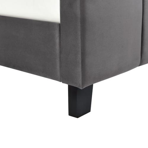 Accentrics Home - Twin Modern Channel Bed in Flannel