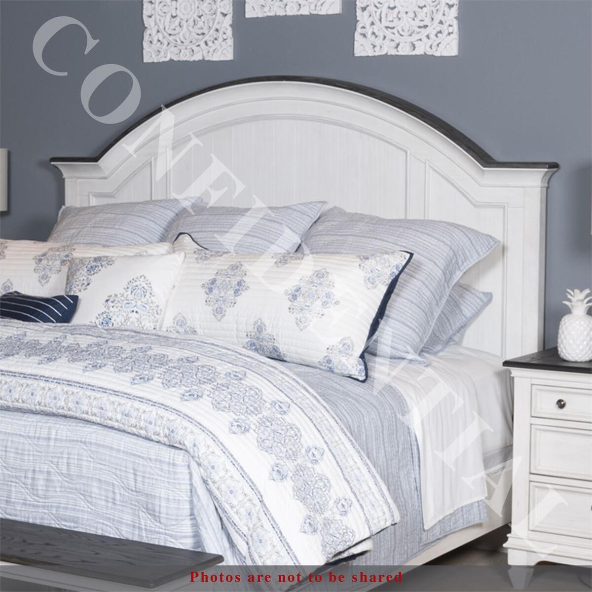 Queen Arched Panel Bed