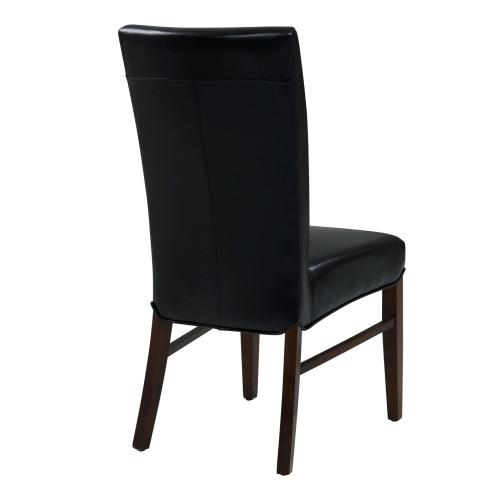 Milton Bonded Leather Dining Side Chair, Black
