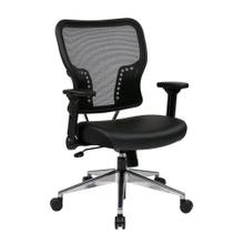 Air Grid Back and Bonded Leather Seat Chair