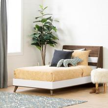 Yodi - Complete Bed, Natural Walnut and White, Twin