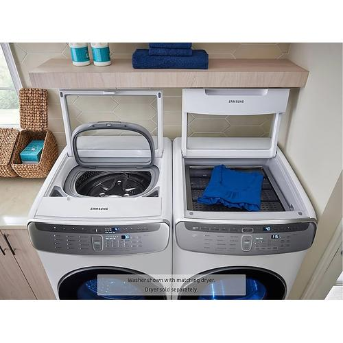6.0 cu ft. Smart Washer with Flexwash in White