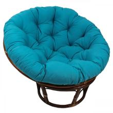 Bali 42-inch Indoor Fabric Rattan Papasan Chair - Walnut/Aqua Blue