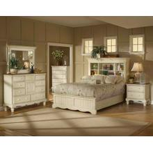 Wilshire 4pc Queen Bookcase Bedroom Suite