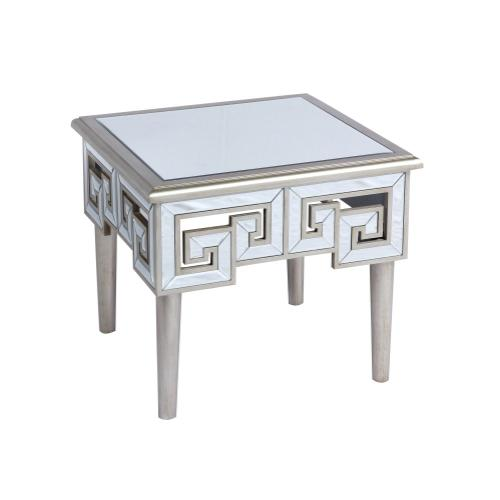 Emerald Home T425-01 Heritage End Table, Mirror