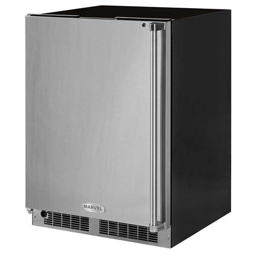 24-In Professional Built-In All Freezer with Door Style - Stainless Steel, Door Swing - Left