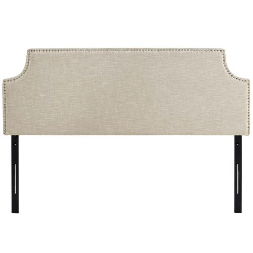 Laura King Upholstered Fabric Headboard in Beige