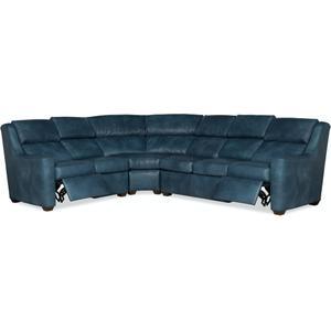 Bradington Young Loewy RAF Sofa Recline At Arm w/Articulating Headrest 941-62