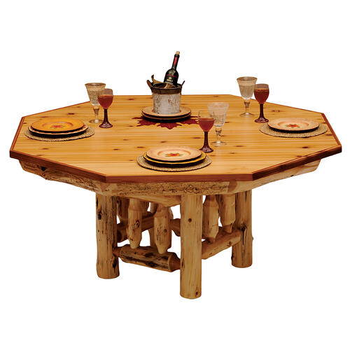 Poker Table Cover - 6-sided - Natural Cedar