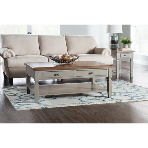 Coffee Table in Hickory & Stone