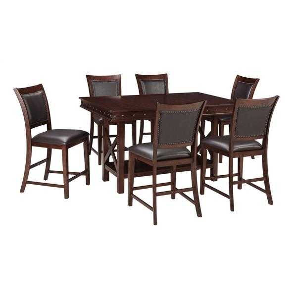 See Details - Counter Height Dining Table and 6 Barstools