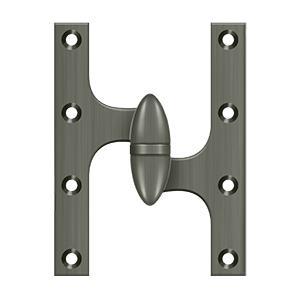"Deltana - 6"" x 4-1/2"" Hinge - Antique Nickel"
