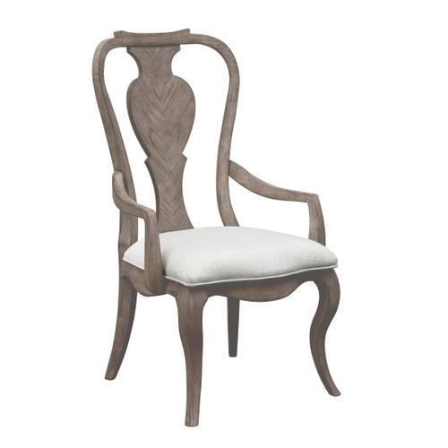 Ella Splat Back Arm Chair 2pc in Gray
