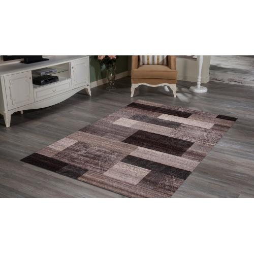 "Power Loomed Hand Carved Geometric Design Tara 303 Area Rug by Rug Factory Plus - 5'4"" x 7'5"""