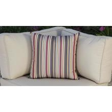 See Details - Outdoor Throw Pillow - Red Striped
