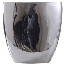 DARIUS VASE- SMALL  Chrome Finish on Ceramic
