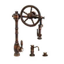 Wheel Pulldown Faucet 3pc. Suite - 5100-3 - Waterstone Luxury Kitchen Faucets
